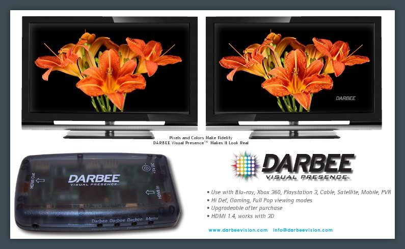 DARBEE Visual Presence� DVP 5000, DARBLET HDMI Video Enhancer | Kalibrate Limited | Home Cinema products, Calibration, DVD Players, 3D Glasses | Audio Systems | Cinema Systems